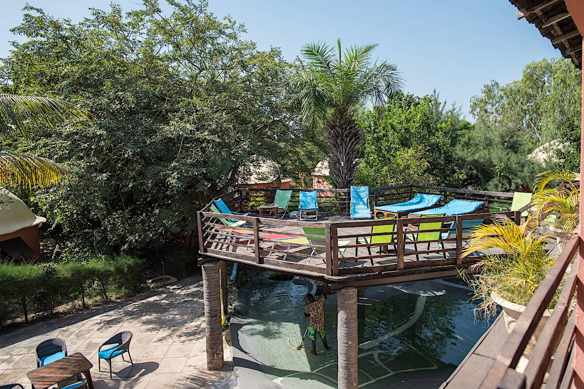 Sundeck over our eco-pool