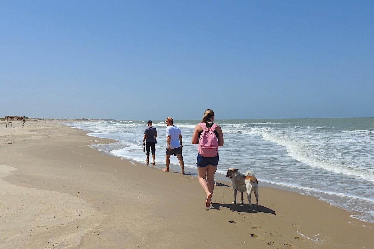 Beach walk after yoga
