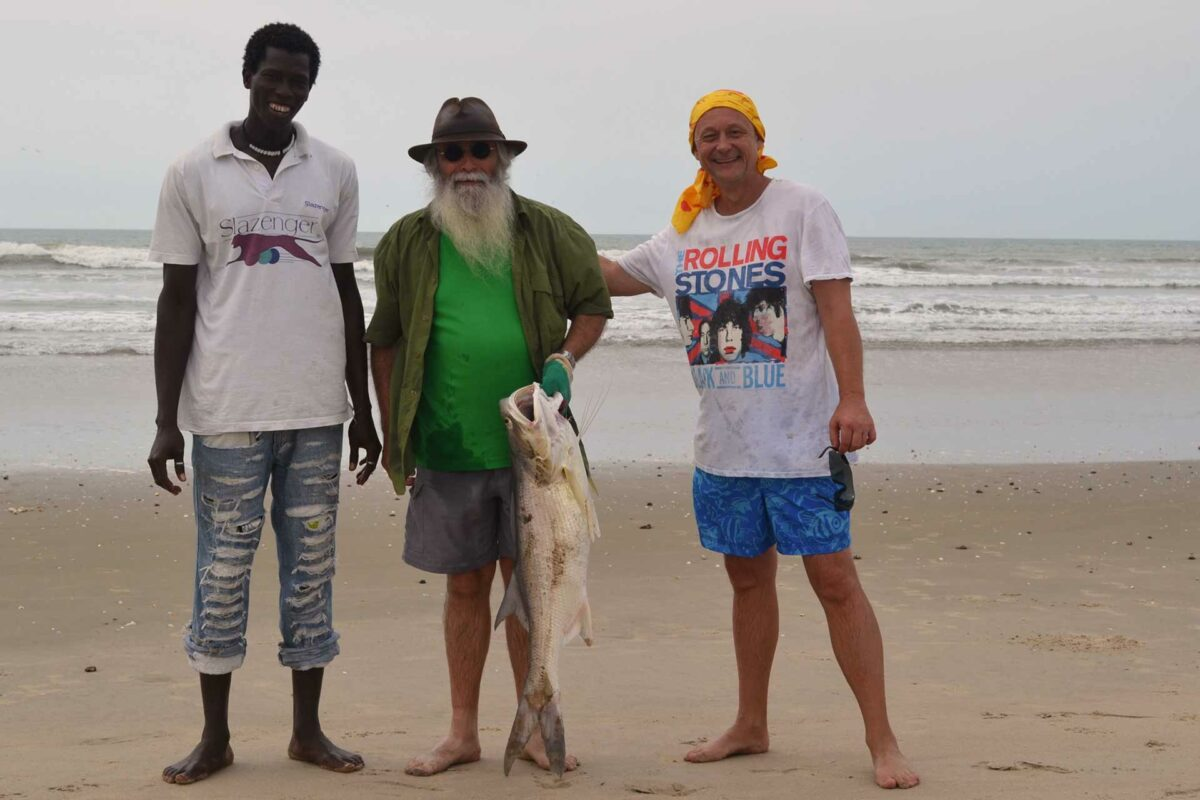 Gambia activities | beach fishing | catch
