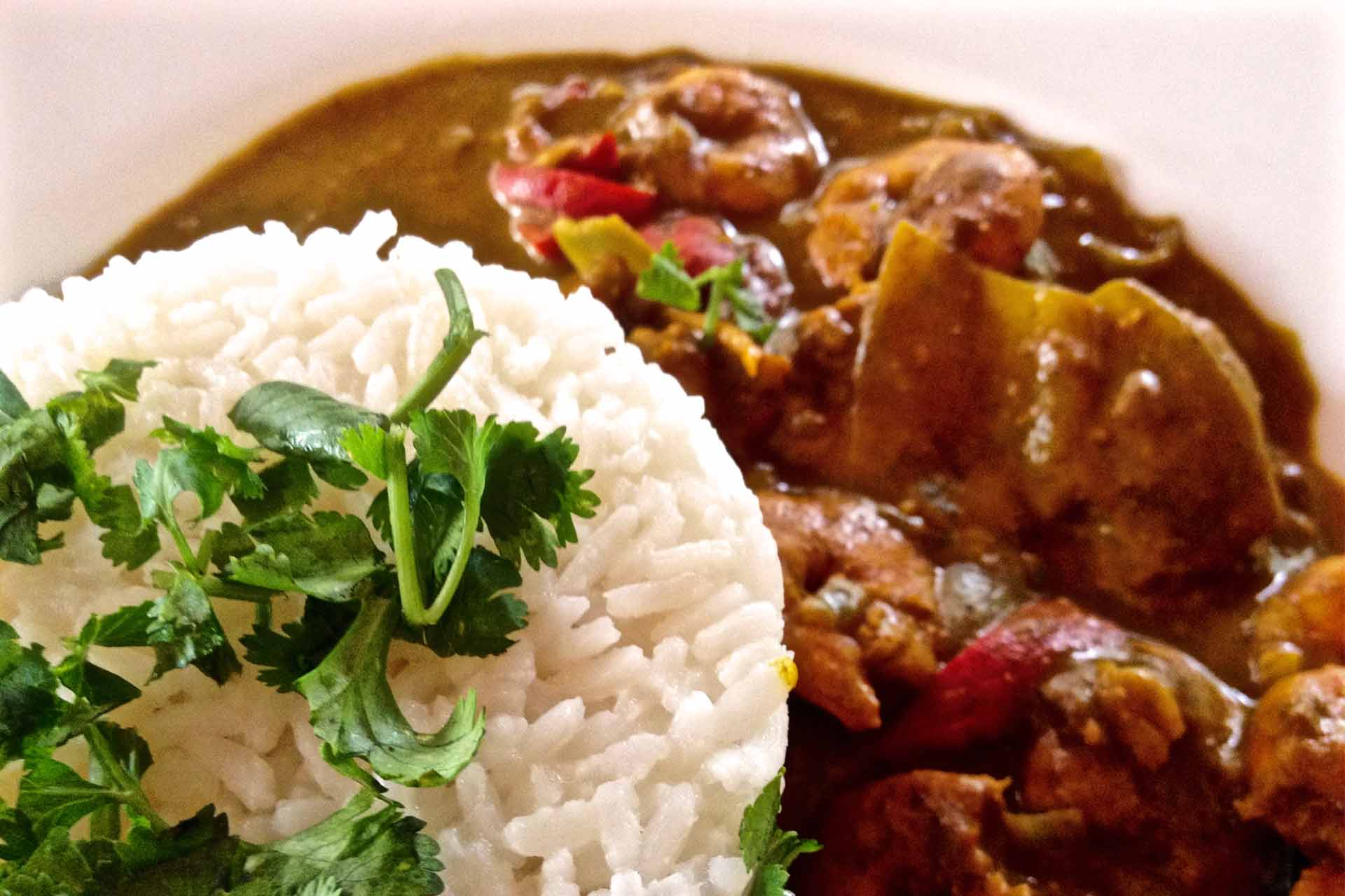 Gambia Essen | Garnelencurry