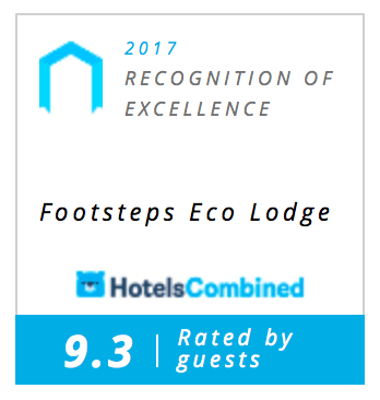 We received the HotelsCombined 2017 recognition of excellence with a 9.3 rated by guests