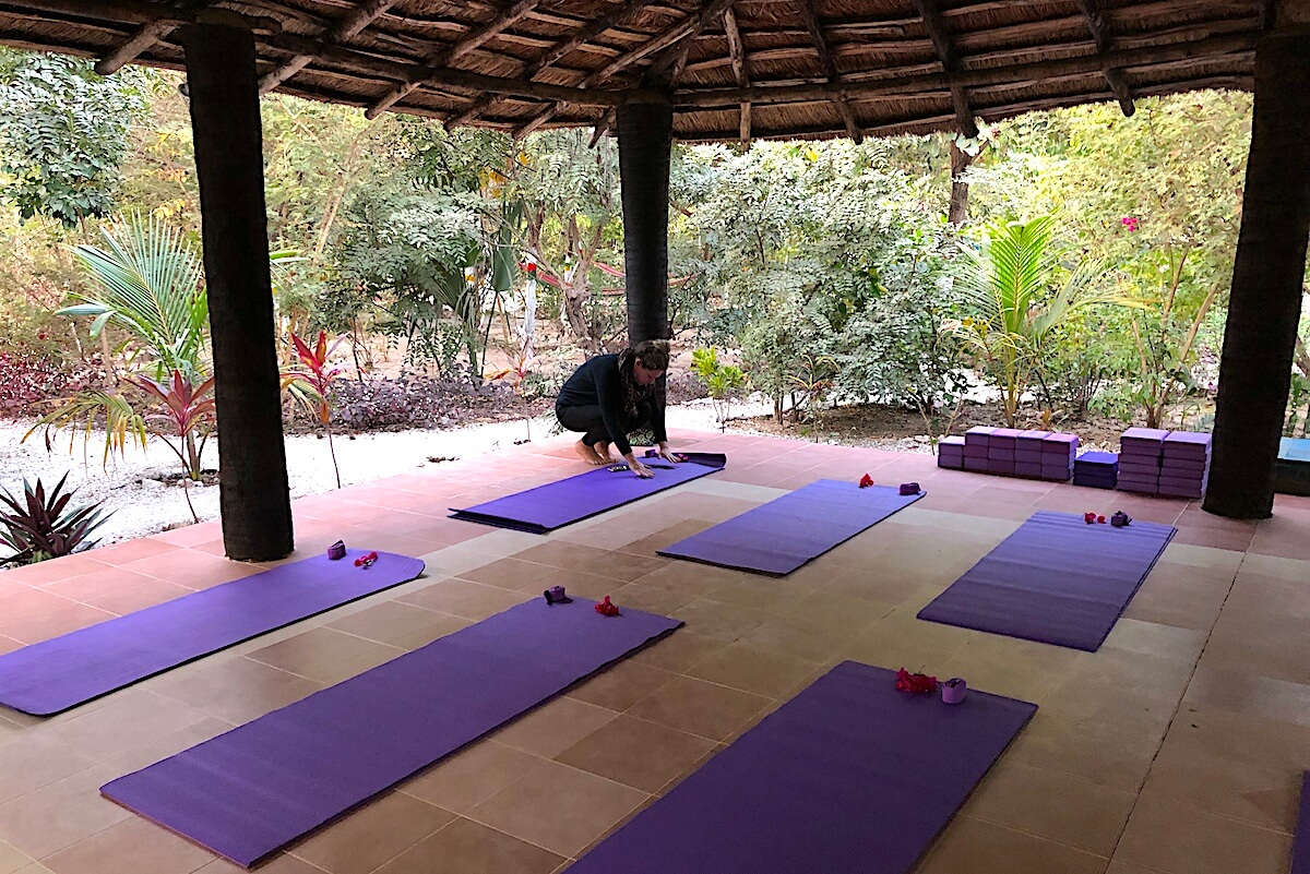 Setting up yoga shala
