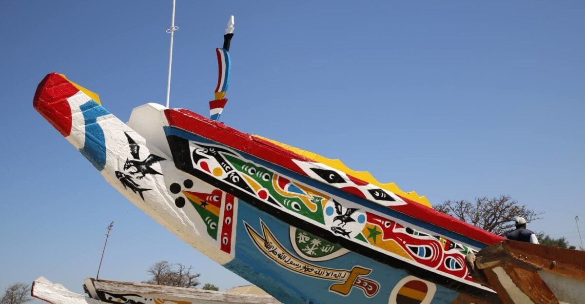 Typical Gambian fishing boat