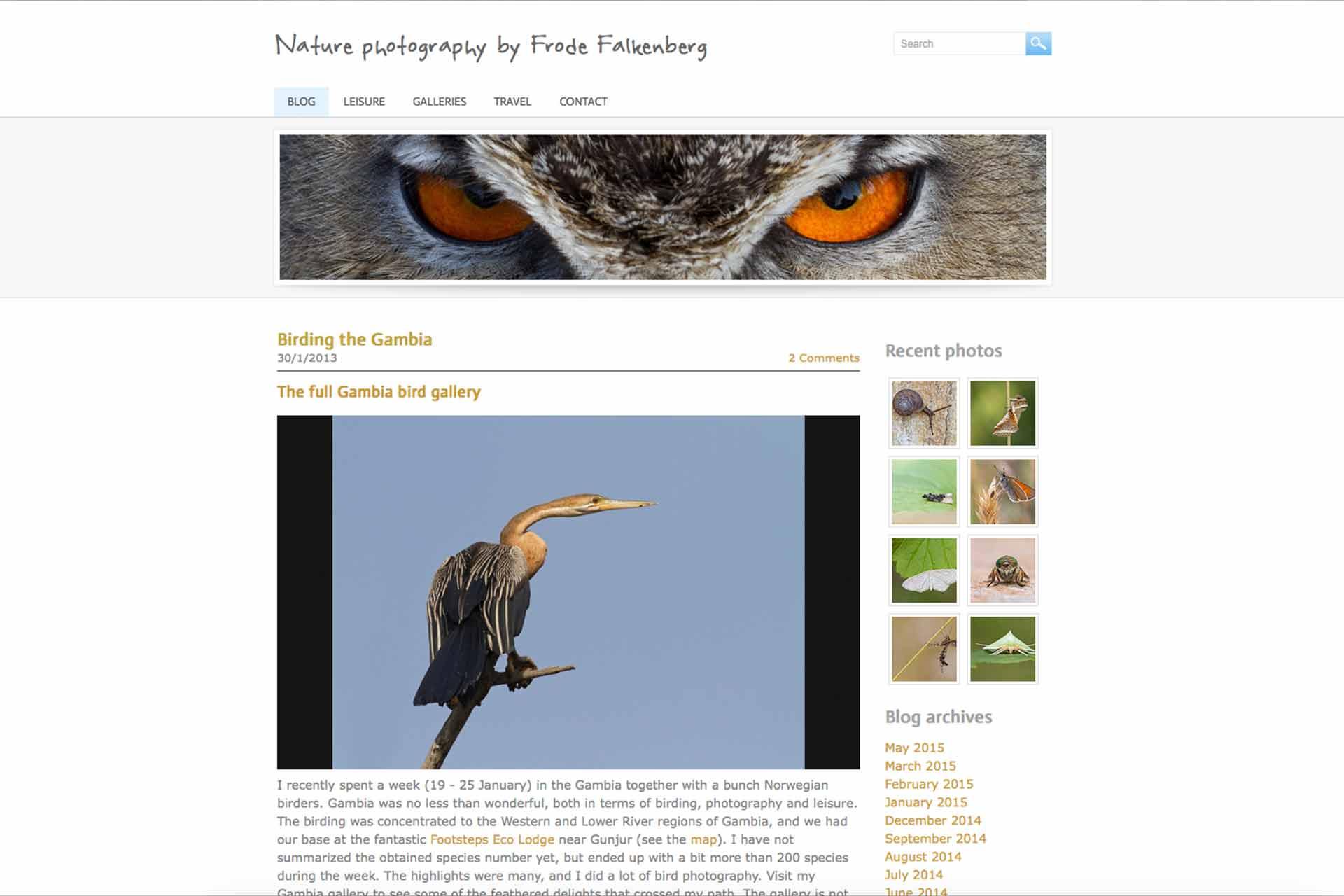 Gambia birding | website Frode Falkenberg