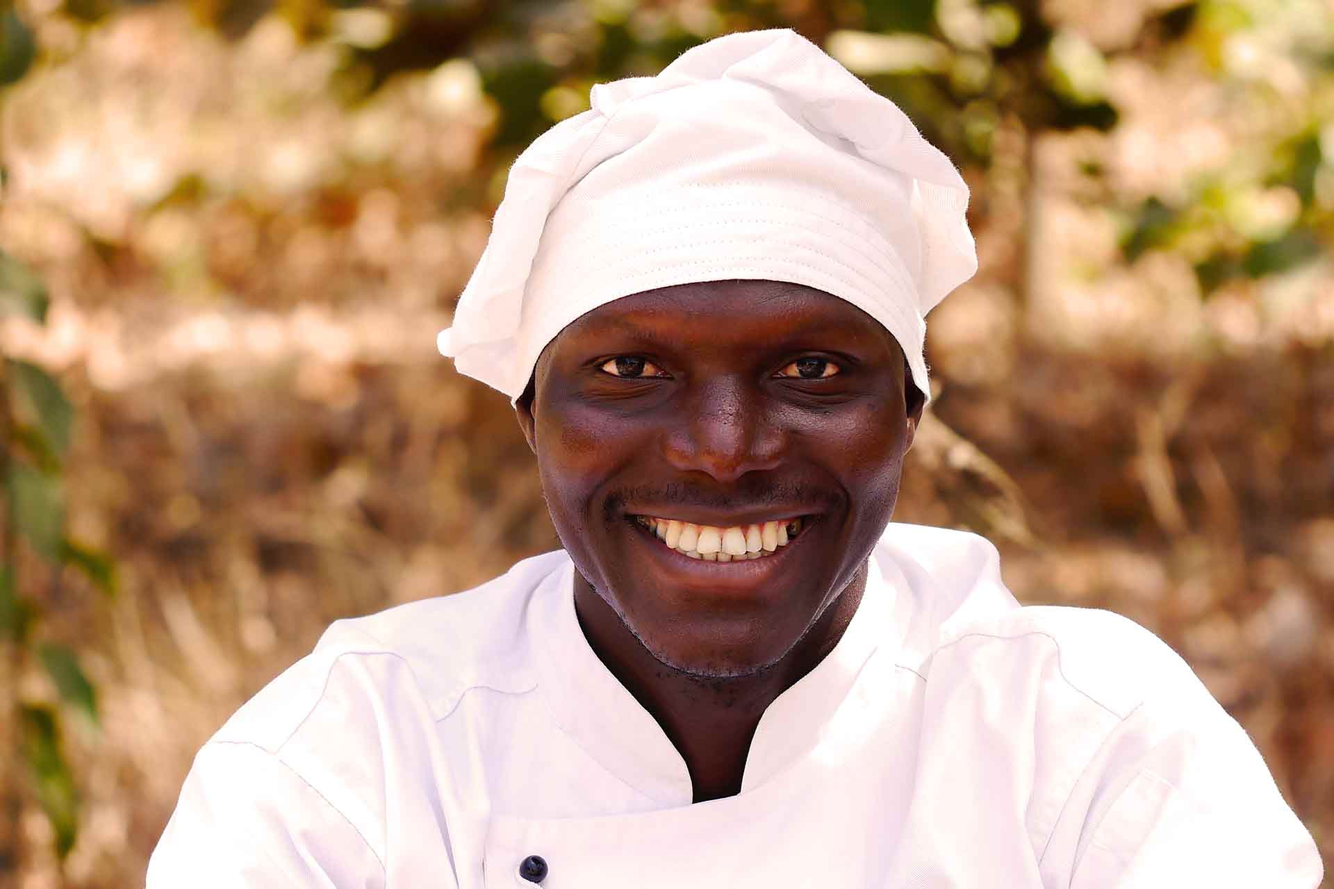 Gambian food cooked by a Gambian chef