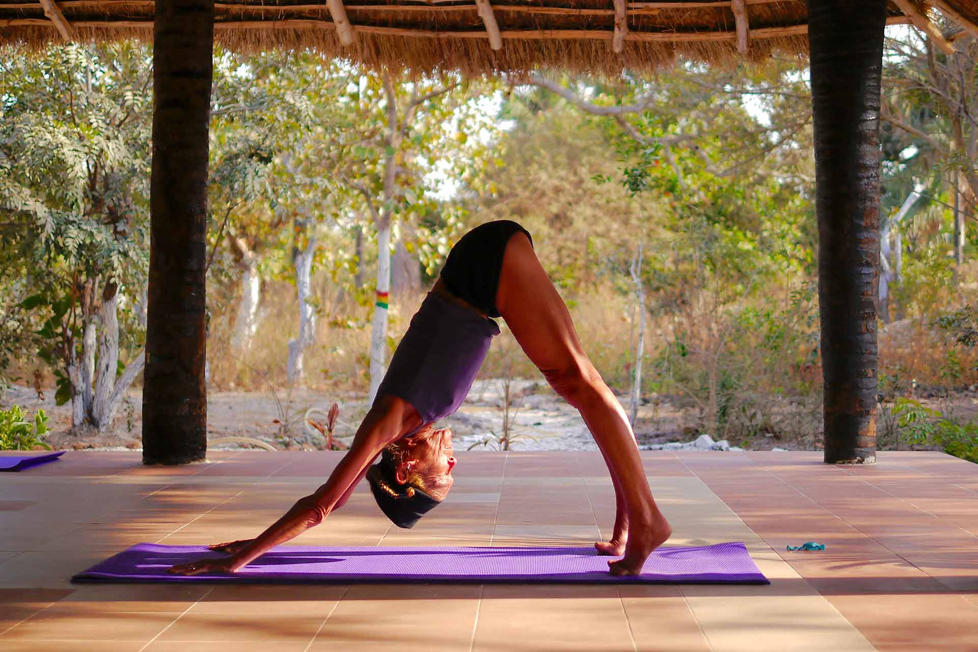 Yoga every day in Gambia with Sue