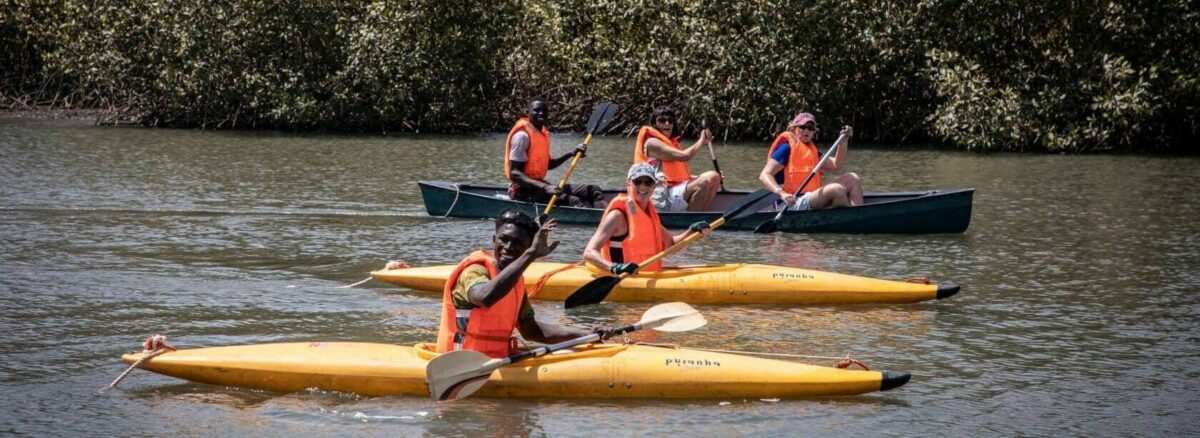 Enjoy canoeing the river with fair play gambia